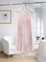 H & L Russel Extra Long Dress Cover Twin Pack - Clear 158cm x 58cm
